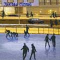 Artistic concept of outdoor skating rink