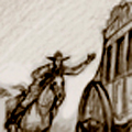 Runaway stagecoach storyboard for a television commercial