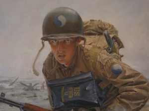 D-Day painting detail
