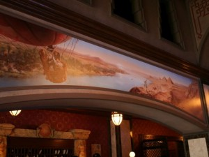 tower of terror lobby mural, egypt