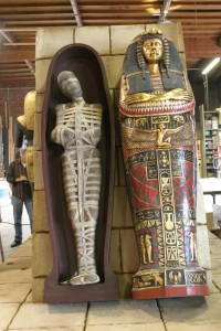 Disney imagineers making replicas of Egyptian mumies.