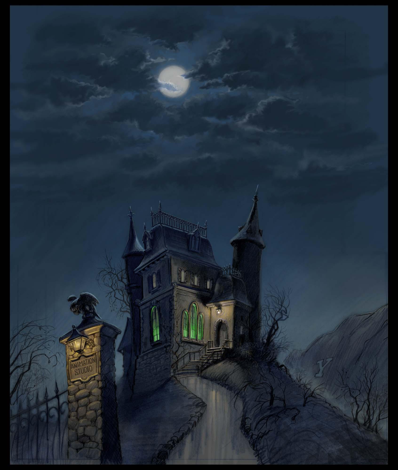 Haunted Houses: K. Sean Sullivan Art Blog » Backgrounds