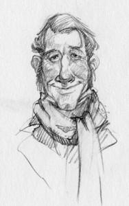 a sketchbook rendition of Bob Cratchet