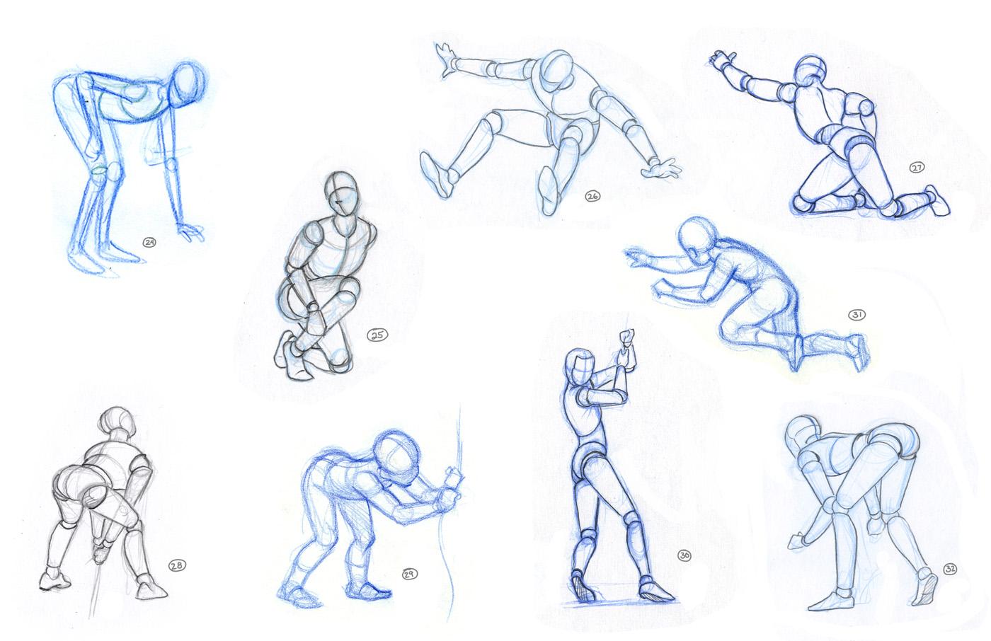 Схема человека в движение рисунки