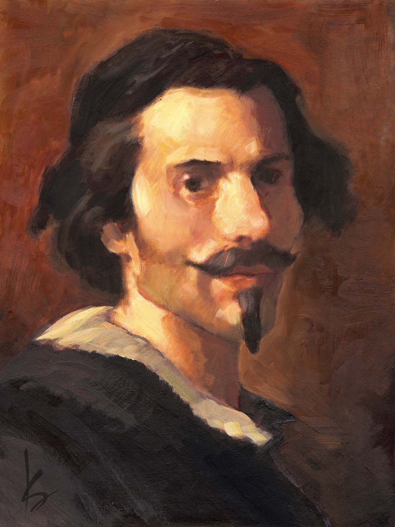 k sean sullivan art blog portraits of great artists gian lorenzo bernini one of the greatest sculptors ever 1598 1680