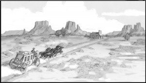 Drawing, Storyboard,  by Utah storyboard artist K Sean Sullivan.