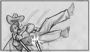 storyboard panel by K Sean Sullivan