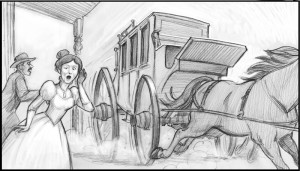 Storyboard panel by Utah artist Sean Sullivan.