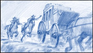 Drawing, Storyboard,  by Utah animation artist K Sean Sullivan.