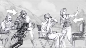 Storyboard artist Sean Sullivan for the Utah Film Commission.