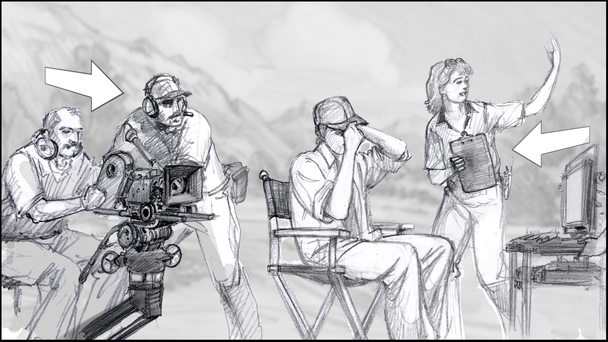 Storyboard Artist Sean Sullivan For The Utah Film Commission.