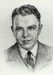 Pencil Drawing of a man in 1940's