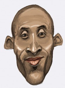Caricature of Kobe.