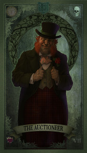 Tarot Card of the Auctioneer.