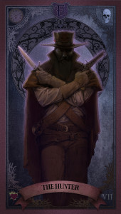 Tarot card of the hunter.