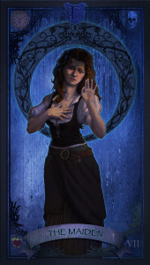 Tarot Card of forlorn maiden.