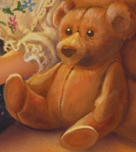 teddy bear detail