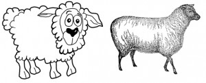 Two styles of drawing.  Both have their strengths and weaknesses.