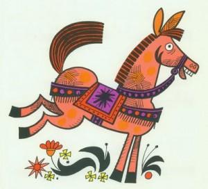What a fun horse.